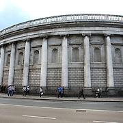 The Bank of Ireland, opposite Trinity College, College Green, Dublin, Ireland. Photo Tim Clayton
