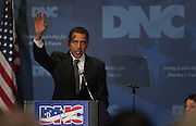"""VIENNA, Va. - Nov. 30:  U.S. Democratic presidential candidate Barack Obama addresses the Democratic National Committee during its annual fall meeting in Vienna, Virginia.  """"Now, here?s the good news - the name George W. Bush will not be on the ballot. The name of my cousin Dick Cheney will not be on the ballot. We?ve been trying to hide that for a long time. Everybody has a black sheep in the family. The era of Scooter Libby justice, and Brownie incompetence, and Karl Rove politics will finally be over.  But the question you?re going to have to ask yourself when you vote this year and next is this:  ?What?s next for America?? said Obama.  The Democratic presidential candidates, DNC Chairman Howard Dean, House Speaker Nancy Pelosi and Colorado Governor Bill Ritter addressed members of the DNC on Friday, November 30 in the ballroom of the Sheraton Premiere hotel.  Senator Chris Dodd passed on the fall meeting to campaign instead in Iowa.  Senator Hillary Clinton canceled her speech as a result of the developments at her New Hampshire office hostage situation."""
