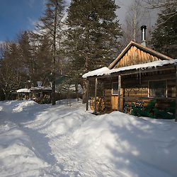 The cabins at the AMC's Little Lyford Pond Camps in Maine's Northern Forest.  Near Greenville.