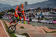 #121 (VAN DER BIEZEN Raymon) NED at the 2016 UCI BMX World Championships in Medellin, Colombia.