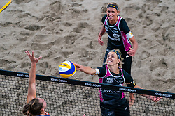Laura Ludwig GER in action during the third day of the beach volleyball event King of the Court at Jaarbeursplein on September 11, 2020 in Utrecht.