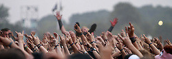 07.08.2010, Wacken Open Air 2010, Wacken, GER, 3.Tag beim 21.Heavy Metal Festival Fans beim Stagediving mit blutroter Hand im Menschenmeer, EXPA Pictures © 2010, PhotoCredit: EXPA/ nph/  Kohring+++++ ATTENTION - OUT OF GER +++++ / SPORTIDA PHOTO AGENCY