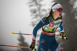 Julia Kern (USA) during the Ladies sprint free race at FIS Cross Country World Cup Planica 2019, on December 21, 2019 at Planica, Slovenia. Photo By Peter Podobnik / Sportida