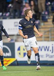 Falkirk's Will Vaulks celebrates after scoring their third goal. <br /> Falkirk 3 v 0 St Mirren. Scottish Championship game played 21/10/2015 at The Falkirk Stadium.