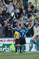 Fotball<br /> Foto: SBI/Digitalsport<br /> NORWAY ONLY<br /> <br /> Sheffield Wednesday v Brentford <br /> Coca Cola league one play off semi final, first round. 12/05/2005. <br /> <br /> Jon-Paul McGovern celebrates his goal for wednesday.