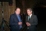 James Naughtie; Lord Browne, Orion Authors' Party celebrating their 20th anniversary. Natural History Museum, Cromwell Road, London, 20 February 2012.