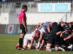 Richard Capstick of Exeter Chiefs during a scrum - Mandatory by-line: Arron Gent/JMP - 13/09/2020 - RUGBY - Allianz Park - London, England - Saracens v Exeter Chiefs - Gallagher Premiership Rugby