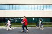 Participants walk through the KLA-Tencor campus during the 2014 Silicon Valley Heart & Stroke Walk at KLA-Tencor in Milpitas, California, on October 11, 2014. (Stan Olszewski/SOSKIphoto)