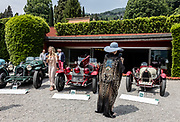 Como, Italy, Concorso d'Eleganza Villa D'Este, from left Alfa Romeo 8C 2300 Monza, Alfa Romeo 6C 1750 Gran Sport, Bugatti 35