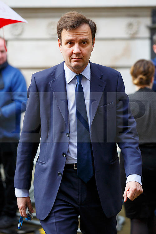 © Licensed to London News Pictures. 20/02/2016. London, UK. Chief Secretary to the Treasury, GREG HANDS attending a cabinet meeting in Downing Street on Saturday, 20 February 2016 after a deal made on the UK's EU membership in Brussels. Photo credit: Tolga Akmen/LNP