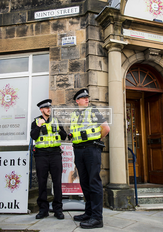 """Pictured: <br /> <br /> Police in Edinburgh have launched a fresh appeal for information following an indecent assault over the weekend.<br /> <br /> A 19-year-old woman was attacked in Salisbury Place as she was walking home at around 2.50 a.m. on Sunday 2nd October.<br /> <br /> The victim fought the suspect off, who then made off towards Minto Street and inquiries to trace this male are continuing.<br /> <br /> He is described as white, early thirties, 6ft tall with a large build and dark hair. He was wearing a red kilt, calf-high boots and a dark hooded top with numbers on the front.<br /> <br /> Following information from the public, detectives have established that the male visited the Marchmont Takeaway on Marchmont Road sometime between 7 p.m. and 9 p.m. on Saturday 1st October and anyone else who believes they may have information that can help identify him is urged to come forward.<br /> <br /> It has also been confirmed that the male walked from the city centre southwards along Newington Road, towards Salisbury Place.<br /> <br /> Detective Inspector Donnie MacLeod from the Public Protection Unit at Fettes said: """"Since the attack took place we have been conducting various inquiries in and around Salisbury Place to trace witnesses and establish the movements of the suspect before and after the incident.<br /> <br /> """"We are now satisfied that he was within the Marchmont area on Saturday evening before carrying out the attack, during which time he walked towards Salisbury Place from the direction of the city centre. <br /> <br /> """"I would ask anyone who believes they may have seen this individual on Saturday night, or the early hours of Sunday morning, or who knows where we can find him should contact police immediately.<br /> <br /> """"In addition, anyone with any further information relevant to this investigation is also asked to get in touch.""""<br /> <br /> Police have also increased patrols within the area and will have a high-visibility presence in Salisb"""
