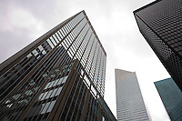 Citibank, left, at Park and 53rd St and Citigroup Center, center, at 3rd Ave and 53rd St in Manhattan. Photographer: Robert Caplin