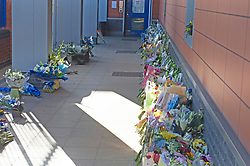 ©Licensed to London News Pictures 26/09/2020  <br /> Croydon, UK. A shine of flowers for Sgt Matt Ratana at Croydon Custody Centre this morning. A murder investigation has been launched by police after the death of  custody police sergeant Matt Ratana at the Croydon Custody Centre in South London yesterday.Photo credit:Grant Falvey/LNP