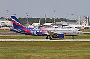 VP-BWD Aeroflot Airbus A320-214 Photographed at Malpensa airport, Milan, Italy