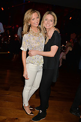 Left to right, ALEXANDRA McCREADY and ARABELLA LLEWELLYN at the opening party of MODE nightclub, 12 Acklam Road, London on 4th April 2014.