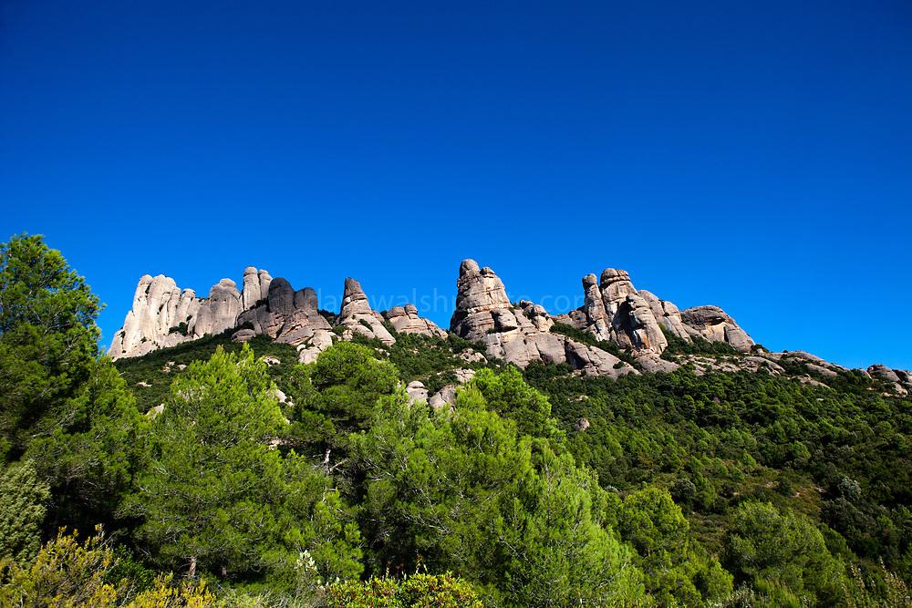 Autumn colours on the mountain of Montserrat, near Barcelona, Catalonia, Spain