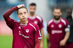 Tilen Mlakar of Triglav looks dejected after the football match between NK Triglav and NK Celje in Round #14 of Prva liga Telekom Slovenije 2018/19, on October 27, 2018, in Sports centre Kranj, Slovenia. Photo by Vid Ponikvar / Sportida