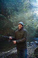 Steelhead fishing in Oregon.