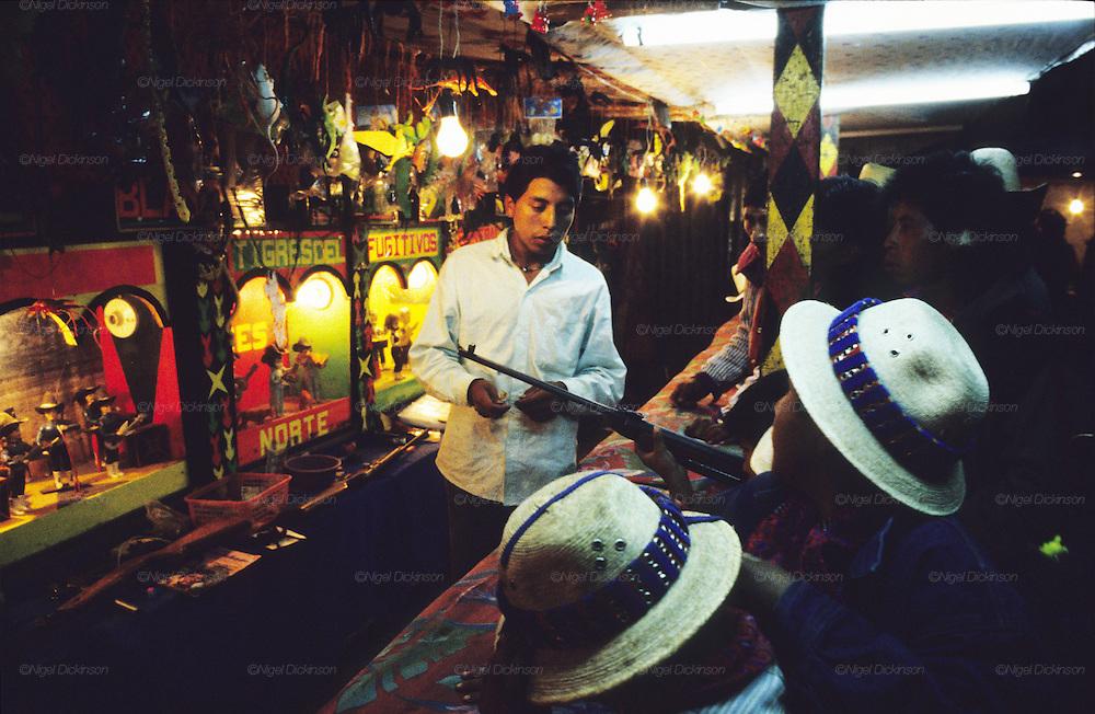 TODOS  SANTOS, Guatemala. Fun fair. Western Highlands, Huehuetenango, Todos Santos. Mayan traditional festival. Todos Santos Horse Race, the 'Skach Koyl' on All Saints Day 1st November; the 'Day of the dead' November 2nd. Mayan dances about Spanish 'Conquistadores' and Mayan Spirits, accompanied by marimbas take place October 31st.