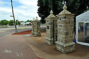 The newly restored Stirling Memorial Gates.