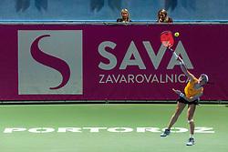 PORTOROZ, SLOVENIA - SEPTEMBER 17:  Tamara Zidansek of Slovenia playing against Kaja Juvan of Slovenia at quarterfinal match of the WTA 250 Zavarovalnica Sava Portoroz at SRC Marina, on September 17, 2021 in Portoroz / Portorose, Slovenia. Photo by Vid Ponikvar / Sportida
