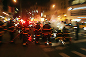 Mini-Van catches fire in Chinatown, NYC