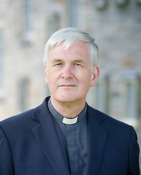 The Rev'd Canon Dr Peter Sedgwick portrait prior to his retirement party at St. Michael's College, Llandaff, Cardiff, Wales on 9th July 2015 where he was principle between 2004 and 2014. <br /> <br /> Peter Sedgwick<br /> <br /> Photograph by Elliott Franks