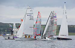 Largs Regatta Week 2015, hosted by Largs Sailing Club and Fairlie Yacht Club<br /> <br /> Fast Handicap start<br /> <br /> Credit Marc Turner