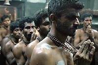 India, Gokarna, 2006. This Hindu ritual honoring Ganesh, the elephant-headed god of good fortune, lasts for 24 hours.
