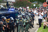 The Long Range Acoustic Device (LRAD) used in crowd control in Baton Rouge, Louisiana today. After a fatal police shooting of Alton Sterling last week, there have been multiple protests. At least 48 people had been were taken into custody by midnight Sunday,