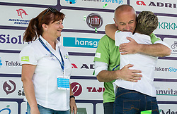 Bogdan Fink, race director with Mojca Novak and Sonja Gole of Adria Mobil after the 5th Time Trial Stage of 25th Tour de Slovenie 2018 cycling race between Trebnje and Novo mesto (25,5 km), on June 17, 2018 in  Slovenia. Photo by Vid Ponikvar / Sportida