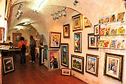 Israel, Upper Galilee, Tzfat, art gallery