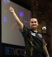 Jeffrey de Zwaan during the BetVictor World Matchplay at Winter Gardens, Blackpool, United Kingdom on 21 July 2018. Picture by Chris Sargeant.