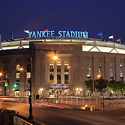 A panoramic view of the Yankees Stadium during a night game between the New York Yankees V Baltimore Orioles Baseball game at Yankee Stadium, The Bronx, New York. 30th April 2012. Photo Tim Clayton.