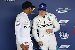 September 29, 2018 - Sochi, Russia - Motorsports: FIA Formula One World Championship 2018, Grand Prix of Russia, .#44 Lewis Hamilton (GBR, Mercedes AMG Petronas Motorsport), #77 Valtteri Bottas (FIN, Mercedes AMG Petronas Motorsport) (Credit Image: © Hoch Zwei via ZUMA Wire)