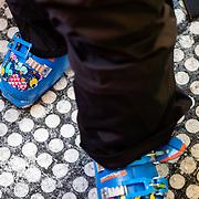 Hadley Hammer's high performance kid's ski boots.