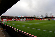 Whaddon Road during the The FA Cup match between Cheltenham Town and Dover Athletic at Whaddon Road, Cheltenham, England on 7 December 2014.