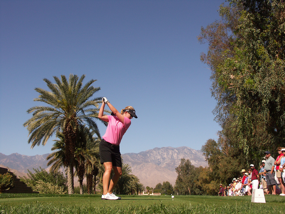 Karrie Webb.2007 Kraft-Nabisco Championship.Second Round.Mission Hills CC.Dinah Shore Course.Rancho Mirage, CA.Friday, March 30 2007.03/30/07.Photograph by Darren Carroll