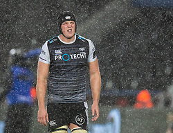 Lloyd Ashley of Ospreys<br /> <br /> Photographer Simon King/Replay Images<br /> <br /> Guinness PRO14 Round 6 - Ospreys v Connacht - Saturday 2nd November 2019 - Liberty Stadium - Swansea<br /> <br /> World Copyright © Replay Images . All rights reserved. info@replayimages.co.uk - http://replayimages.co.uk