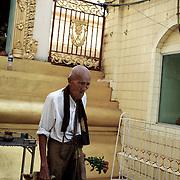 May 09, 2013 - Yangon, Myanmar: A local man at Sule Pagoda in central Yangon. (Paulo Nunes dos Santos/Polaris)