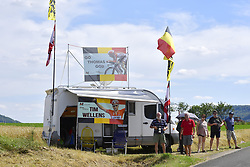 July 4, 2017 - Mondorf Les Bains / Vittel, Luxembourg / France - VITTEL, FRANCE - JULY 4 : Some Lotto - Soudal fans on the side of the road during stage 4 of the 104th edition of the 2017 Tour de France cycling race, a stage of 207.5 kms between Mondorf-Les-Bains and Vittel on July 04, 2017 in Vittel, France, 4/07/2017 (Credit Image: © Panoramic via ZUMA Press)