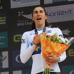 26-08-2020: Wielrennen: EK wielrennen: Plouay<br /> Elisa Balsamo (Italy) European Champion women U2326-08-2020: Wielrennen: EK wielrennen: Plouay