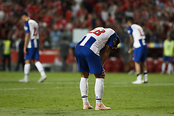 October 7, 2018 - Lisbon, Portugal - Felipe Monteiro of Porto reacts at the end of the Portuguese League football match between SL Benfica and FC Porto at Luz Stadium in Lisbon on October 7, 2018. (Credit Image: © Carlos Palma/NurPhoto/ZUMA Press)