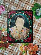 Old Russian portraits. In Roshorv village.