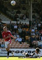 Photo: Paul Thomas.<br /> Port Vale v Bristol City. Coca Cola League 1. 23/09/2006.<br /> <br /> Phil Jevons (L) of Bristol beats George Pilkington to score their second goal.