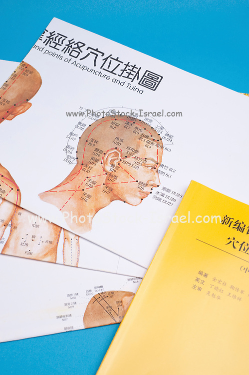Chinese acupuncture drawings showing the relevant points