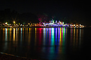 Ark bar night lights from the Library resort, Chaweng beach, Koh Samui, Thailand