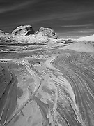 Scene from the White Pocket geological area of Vermillion Cliffs National Monument, Arizona.