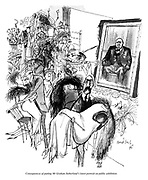 Consequences of putting Mr Graham Sutherland's latest portrait on public exhibition.