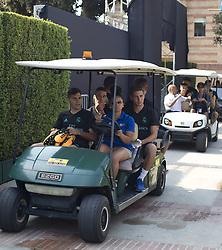 July 12, 2017 - Westwood, CALIFORNIA, USA - Real Madrid players arrive for the first day of practice at UCLA Campus today Wednesday 12 2017, in Westwood, California .ARMANDO ARORIZO. (Credit Image: © Armando Arorizo/Prensa Internacional via ZUMA Wire)